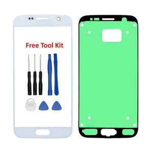 Samsung Galaxy S7 Front Glass Lens with Adhesive and Free Tools - Silver - Front Glass