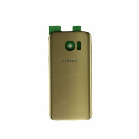 Samsung Galaxy S7 Rear Back Battery Cover Door with Adhesive - Gold - Battery Covers