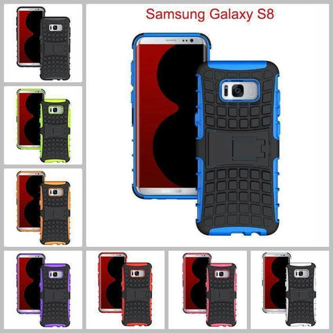 Image of Samsung Galaxy S8 Heavy Duty Armor Phone Case Cover with Stand - Cases