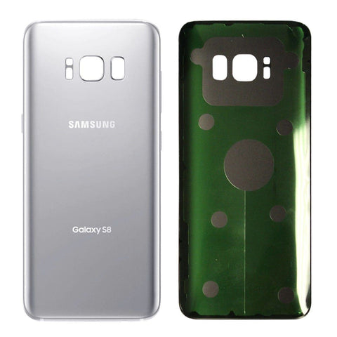 Samsung Galaxy S8 Rear Back Battery Cover Door with Adhesive - Silver - Battery Covers