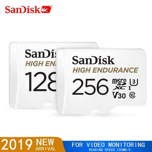 SanDisk Micro SD Card High Endurance Video Monitoring 32GB 64GB 128GB 256GB - 64GB / 1 - Micro SD Cards