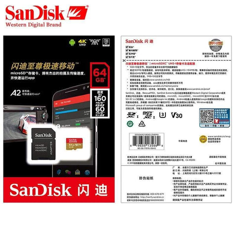 Image of Sandisk Micro SD Extreme Memory Card High Speed 32GB 64GB 128GB 256GB 400GB - Micro SD Cards