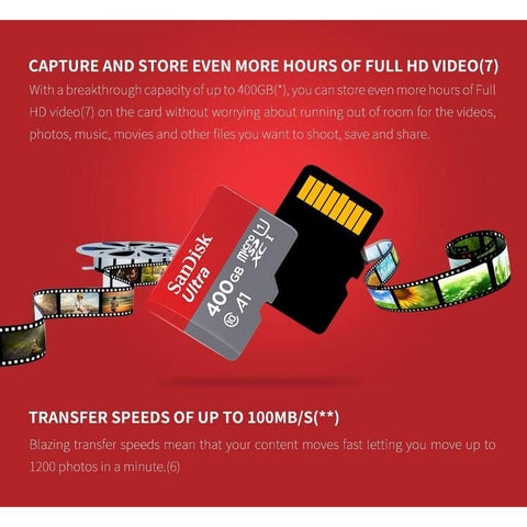 Image of Sandisk Micro SD Ultra Memory Card SD/TF 16GB 32GB 64GB 128GB 200GB 256GB 400GB - Micro Sd Memory Cards