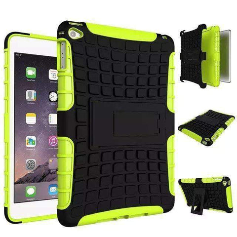 Shockproof TPU+PC Silicon Protector Shell Case Cover for Apple iPad mini 4 A1538 A1550 - green - Accessories