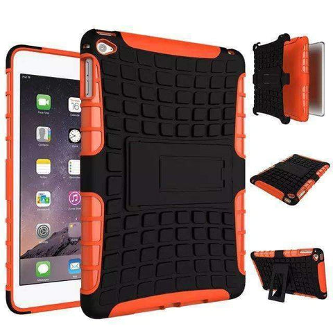 Shockproof TPU+PC Silicon Protector Shell Case Cover for Apple iPad mini 4 A1538 A1550 - orange - Accessories