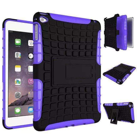 Shockproof TPU+PC Silicon Protector Shell Case Cover for Apple iPad mini 4 A1538 A1550 - purple - Accessories