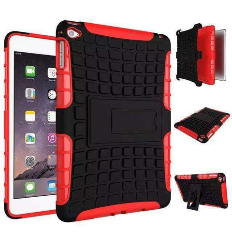 Shockproof TPU+PC Silicon Protector Shell Case Cover for Apple iPad mini 4 A1538 A1550 - red - Accessories
