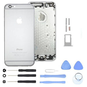Silver Back Housing Mid Frame Assembly for iPhone 6 Plus A1522 A1524 A1593 - With Tool Kit - Housing Assembly