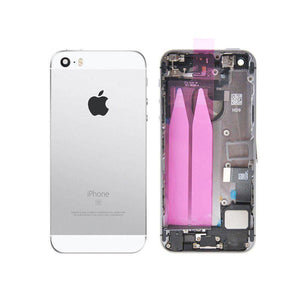 New iPhone SE Back Housing Mid Frame Assembly with Cables Parts tools - Silver - Housing Assembly