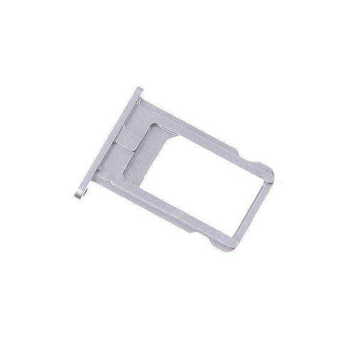Image of New Original iPhone 6 SIM Card Tray Holder with Eject Tool - Silver - SIM Card Tray