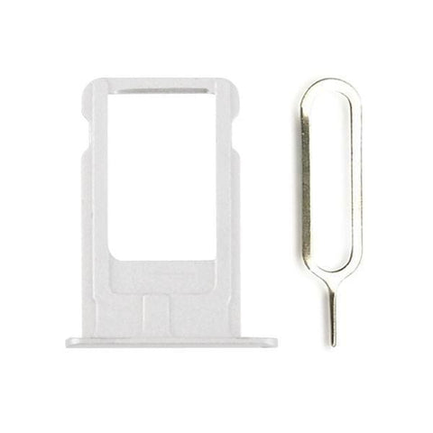 Image of New Original iPhone 6 Plus 5.5 SIM Card Tray Holder with Eject Tool - Silver - SIM Card Tray