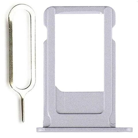 New iPhone 6S SIM Card Tray Holder Replacement with Eject Tool - Silver - SIM Card Tray