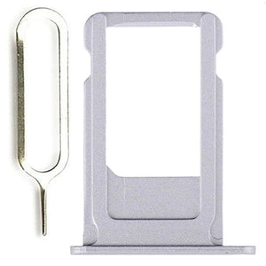 New Original iPhone 6S Plus 5.5 SIM Card Tray Holder with Eject Tool - Silver - SIM Card Tray