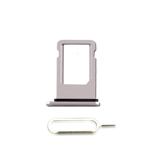 New iPhone 8 Plus SIM Card Tray Holder with Eject Tool - Silver - SIM Card Tray