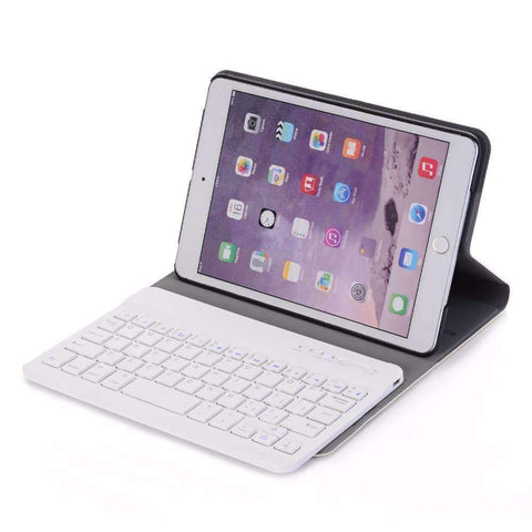 Image of Slim ABS Removable Wireless Bluetooth Keyboard Smart Leather Case Cover for Apple iPad mini 1 2 3 - Accessories
