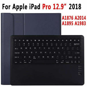 Slim Bluetooth Keyboard Case for Apple iPad 9.7 2017 2018 Air 1 2 3 10.5 2019 Pro 11 12.9 2018 mini 5 Cover with Pencil Slot - for Pro 12.9