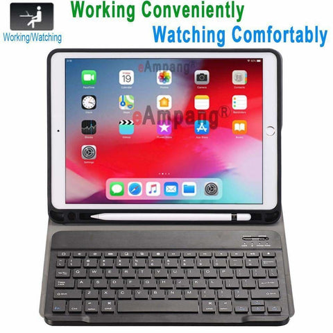 Slim Bluetooth Keyboard Case for Apple iPad 9.7 2017 2018 Air 1 2 3 10.5 2019 Pro 11 12.9 2018 mini 5 Cover with Pencil Slot - Accessories