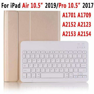 Slim Bluetooth Keyboard Case for Apple iPad 9.7 2017 2018 Air 1 2 3 10.5 2019 Pro 11 12.9 2018 mini 5 Cover with Pencil Slot - Gold for 10.5