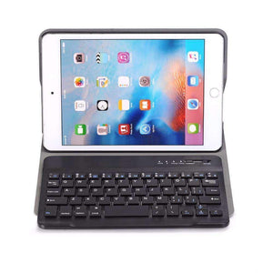 Slim Removable Bluetooth Keyboard Leather Case Cover for Apple iPad mini 4 mini 5 2019 A2133 A2124 A2125 A2126 - Accessories