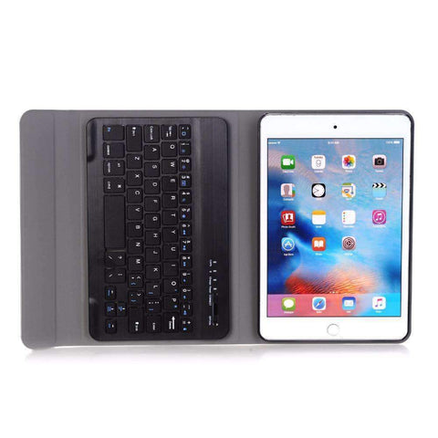 Image of Slim Removable Bluetooth Keyboard Leather Case Cover for Apple iPad mini 4 mini 5 2019 A2133 A2124 A2125 A2126 - Accessories