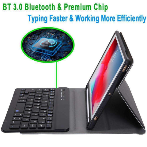 Slim Removable Bluetooth Keyboard Leather Case for Apple iPad Mini 4 Mini 5 - Accessories