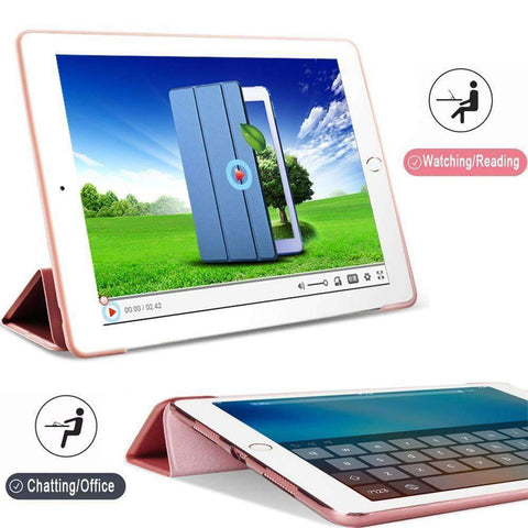 Image of Soft Silicone Back Cover Magnetic Smart Sleep Awake Leather Case for Apple iPad Mini 5 A2125 A2126 - Accessories