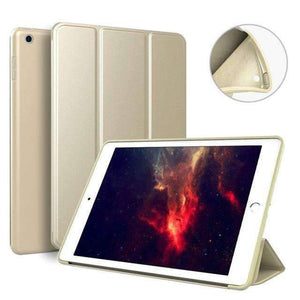 Soft Silicone Back Cover Magnetic Smart Sleep Awake Leather Case for Apple iPad Mini 5 A2125 A2126 - Gold - Accessories