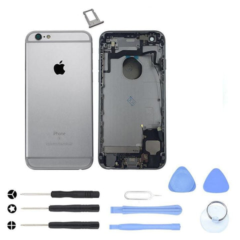 Image of Space Gray Back Housing Mid Frame Cables Parts for iPhone 6S A1633 A1688 A1700 - With Tool Kit - Housing Assembly