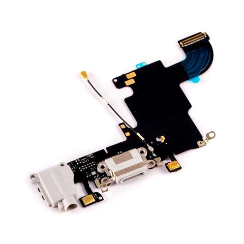 iPhone 6S 4.7 Charging Port Microphone Headphone Audio Jack Flex Cable - Gray - Charge Ports