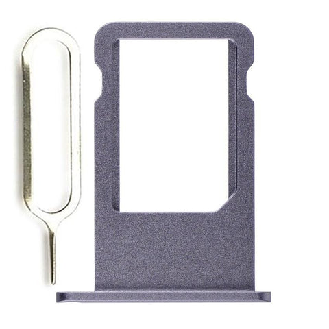 Image of New iPhone 6S SIM Card Tray Holder Replacement with Eject Tool - Black - SIM Card Tray