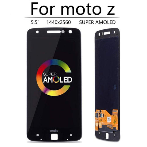Image of Super AMOLED LCD Touch Screen Digitizer for Motorola Moto Z Droid XT1650-03 - Black - LCD's & Digitizers