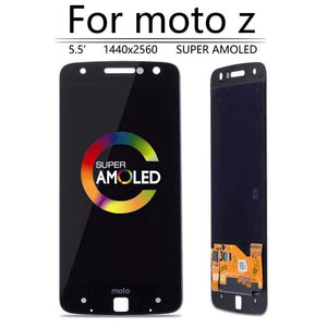 Super AMOLED LCD Touch Screen Digitizer for Motorola Moto Z Droid XT1650-03 - Black - LCD's & Digitizers