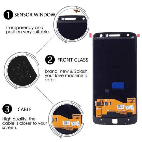 Image of Super AMOLED LCD Touch Screen Digitizer for Motorola Moto Z Droid XT1650-03 - LCD's & Digitizers