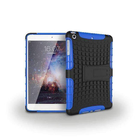 Image of Tire Pattern 2 in 1 Combine Silicon Cover Case for Apple iPad mini 1 2 3 - blue - Accessories
