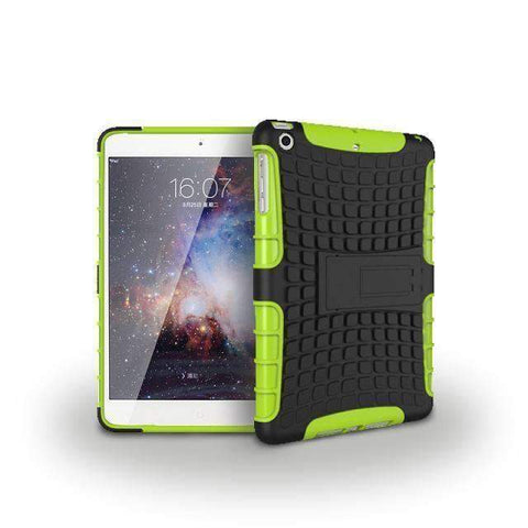 Image of Tire Pattern 2 in 1 Combine Silicon Cover Case for Apple iPad mini 1 2 3 - green - Accessories
