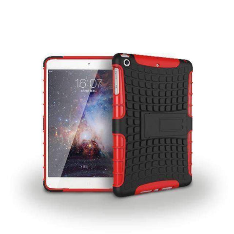 Image of Tire Pattern 2 in 1 Combine Silicon Cover Case for Apple iPad mini 1 2 3 - red - Accessories