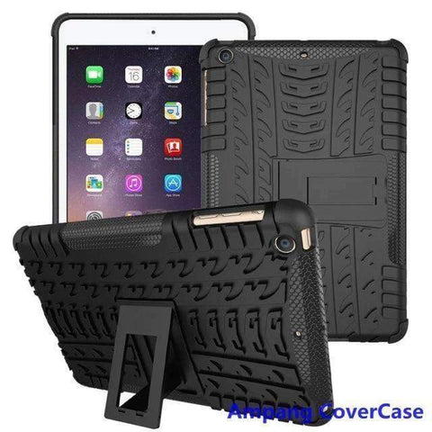 Tire Pattern Armor Hybrid TPU+PC Silicone Shell Cover Case for Apple iPad mini 1 2 3 - black - Accessories