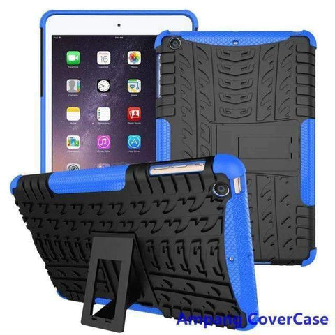 Tire Pattern Armor Hybrid TPU+PC Silicone Shell Cover Case for Apple iPad mini 1 2 3 - blue - Accessories