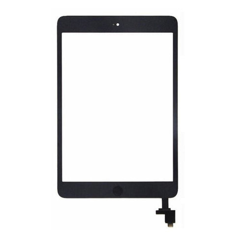 Image of Touch Screen Digitizer + IC + Home Button for iPad Mini 1 & 2 - Black / White - Black with Button - LCDs & Digitizers