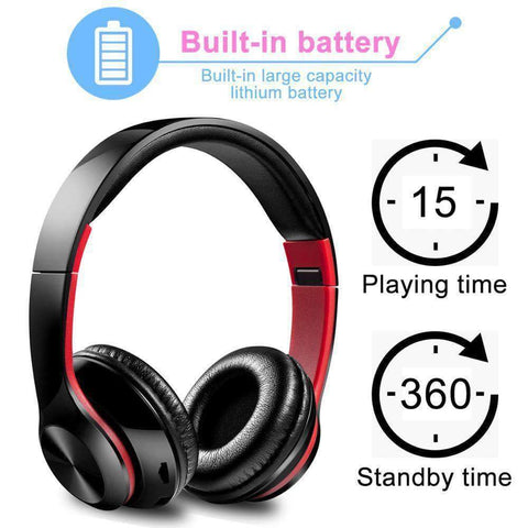 Image of TWS Headphones for Computer Gaming Headset HIFI 5.0 Stereo Bluetooth Earphones Music Headset FM and Support SD card With mic - Accessories