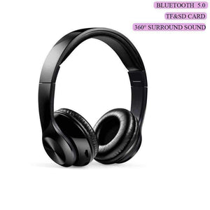 TWS Headphones for Computer Gaming Headset HIFI 5.0 Stereo Bluetooth Earphones Music Headset FM and Support SD card With mic - Accessories