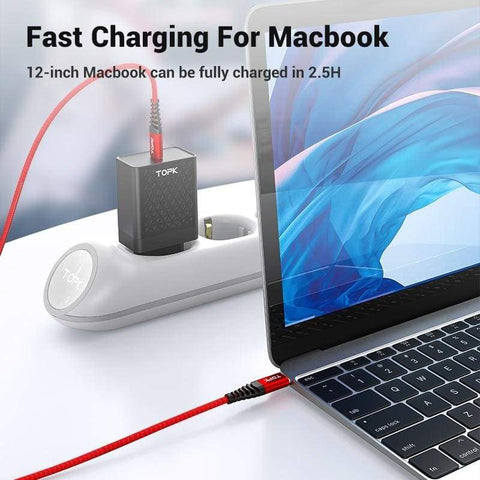 Type C 1M (3 ft) 60W USB Fast Charging Data Sync Cable QC3.0 for Samsung Huawei - Charging Cables