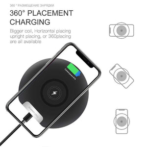 Ultra Thin 10W Qi fAST Wireless Charger for iPhone Samsung S9 S10 Note 10 9 - Wireless Chargers