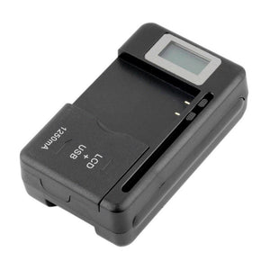 Universal Battery Wall Charger with USB port and LCD indicator Screen - Chargers