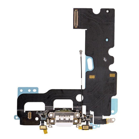 Image of New iPhone 7 4.7 Charging Dock Port Assembly Flex Cable - White - Charge Ports