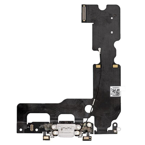 Image of New iPhone 7 Plus 5.5 Charging Dock Port Assembly Flex Cable - White - Charge Ports