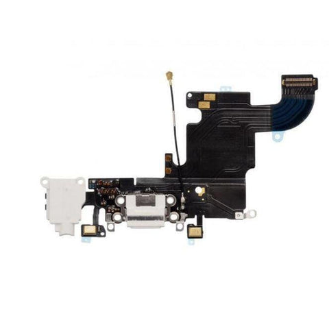 Image of New iPhone 6 Plus Charging Port + Microphone + Headphone Audio Jack Flex Cable - White - Charge Ports