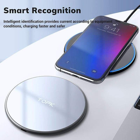 Image of Wireless Charger 10W LED Portable Universal Fast Wireless Phone Charger - Wireless Chargers