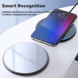 Wireless Charger 10W LED Portable Universal Fast Wireless Phone Charger - Wireless Chargers