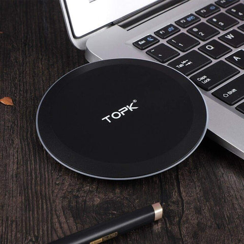 Wireless Fast Charger 10W Charging Pad for iPhone X Xs Max 8 Plus Samsung Note 9 - Wireless Chargers